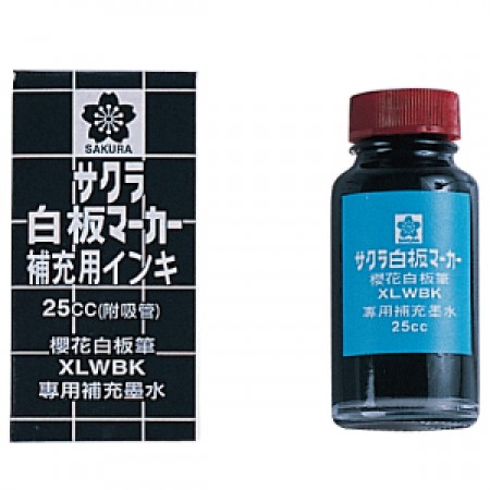 櫻花 XLWBK 黑 白板筆補充液25cc