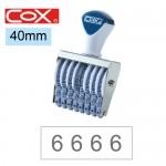 COX 3號8連 號碼印40mm