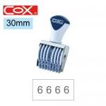 COX 5號8連 號碼印30mm