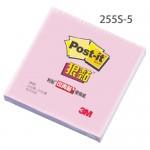 3M 255S-5 粉紅 狠黏可再貼便條紙50x50mm