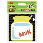 3M 625S-4N 牛奶 狠黏可再貼造型便條紙
