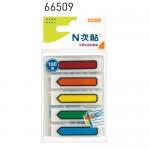 N次貼 66509 5色-100張箭頭螢光透明標籤