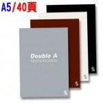 Double A A5/40頁 膠裝筆記本(辦公室系列)
