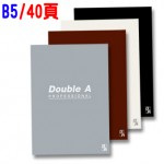 Double A B5/40頁 膠裝筆記本(辦公室系列)