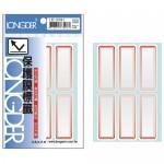 龍德 LD-3201 紅框 保護膜標籤 48P