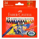 Faber 120039 大象粗芯蠟筆24色