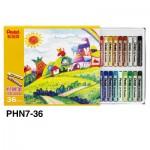 Pentel PHN8-36 (PHN7) 粉蠟筆36色