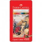 Faber-Castell 115844 油性色鉛筆12色