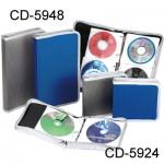 雙鶖 CD-5924(24片) 鑽石紋拉鍊包