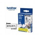 BROTHER TZ-111 護貝標籤帶 (6mm 透明底黑字)