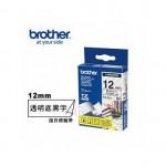 BROTHER TZ-131 護貝標籤帶 (12mm 透明底黑字)