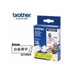 BROTHER TZ-211 護貝標籤帶 (6mm 白底黑字)