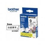 BROTHER TZ-221 護貝標籤帶 (9mm 白底黑字)