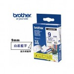 BROTHER TZ-223 護貝標籤帶 (9mm 白底藍字)