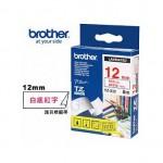 BROTHER TZ-232 護貝標籤帶 (12mm 白底紅字)