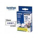 BROTHER TZ-233 護貝標籤帶 (12mm 白底藍字)
