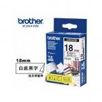 Brother TZe-241 護貝標籤帶 ( 18mm 白底黑字 )