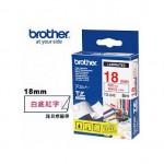 BROTHER TZe-242 護貝標籤帶 (18mm 白底紅字)