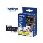 BROTHER TZ-354 護貝標籤帶 (24mm 黑底金字)