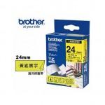 Brother TZe-651 護貝標籤帶 ( 24mm 黃底黑字 )