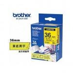 Brother TZe-661 護貝標籤帶 ( 36mm 黃底黑字 )