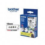 BROTHER TZ-FX241 可彎曲護貝標籤帶 (18mm 白底黑字)