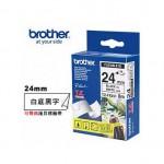 BROTHER TZ-FX251 可彎曲護貝標籤帶 (24mm 白底黑字)