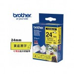 BROTHER TZ-FX651 可彎曲護貝標籤帶 (24mm 黃底黑字)