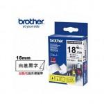 BROTHER TZ-S241 超黏性護貝標籤帶 (18mm 白底黑字)