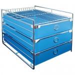 ABEL 60752 藍 歐式三層收納櫃(A4)