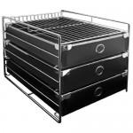 ABEL 60752 黑 歐式三層收納櫃(A4)