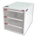 樹德 A4-103H白櫃透明抽三層效率櫃